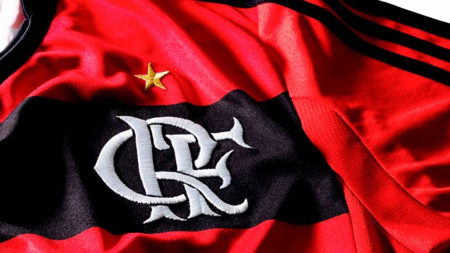 Detalhe da nova camisa do Flamengo