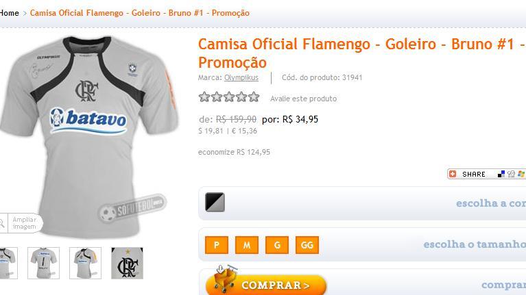 Camisa do ex-goleiro Bruno em liquidação