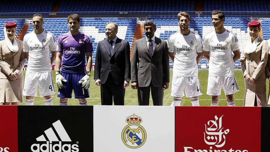 O Real Madrid apresentou nesta quinta-feira (30) suas novas camisas
