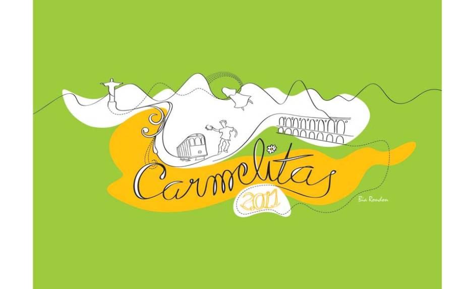 Carmelitas: o véu que caracteriza o bloco envolve a paisagem carioca de Bia Rondon