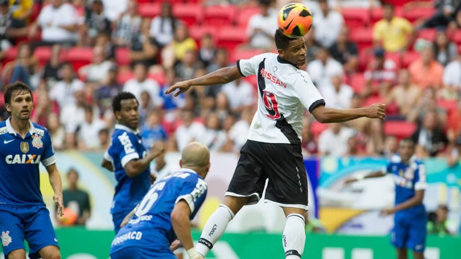 André durante partida entre Vasco x Corinthians, válida pelo Campeonato Brasileiro, realizada no Estádio Mané Garrincha