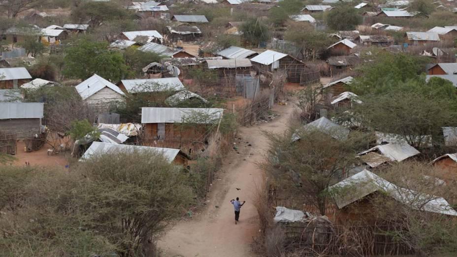 Vista do acampamento Dagahaley, no campo de refugiados de Dadaab, Quênia