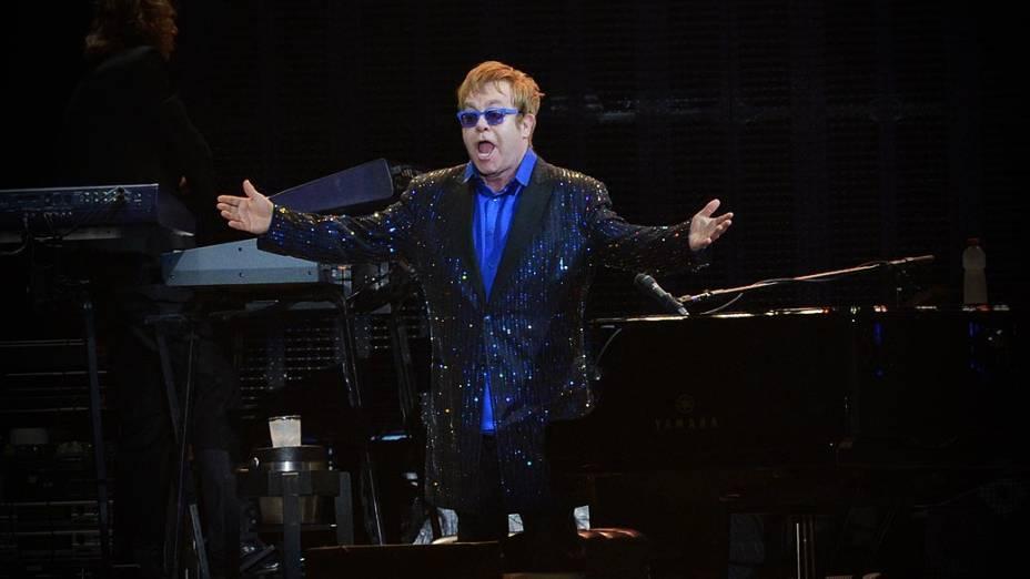 Apresentação de Elton John, em São Paulo