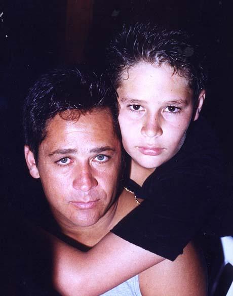 Leonardo com o filho Pedro