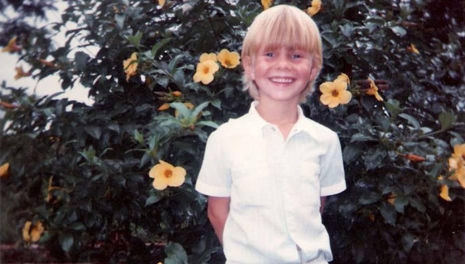 Foto de infância do cantor sertanejo Michel Teló