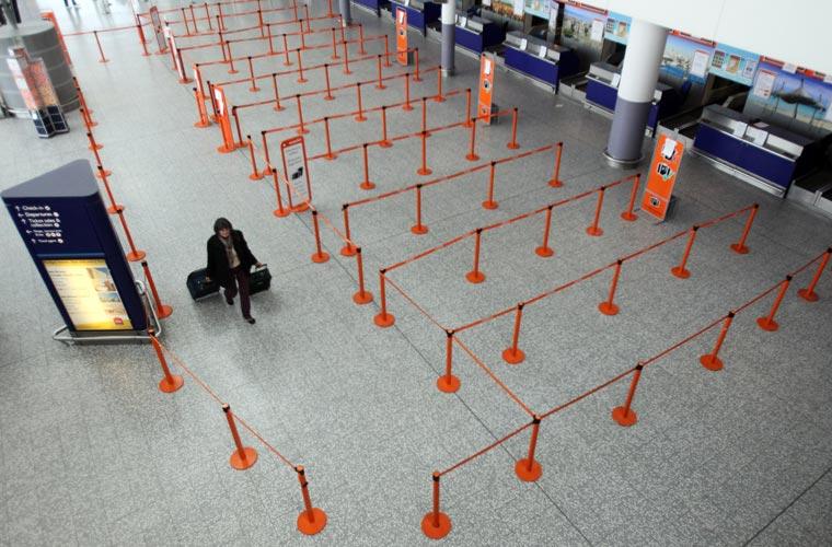 Aeroporto de Bristol (Inglaterra), na quinta-feira.