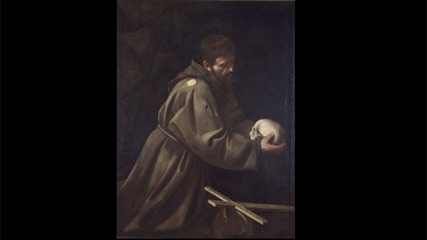 Tela <em>São Francisco em Meditação</em>, de Caravaggio