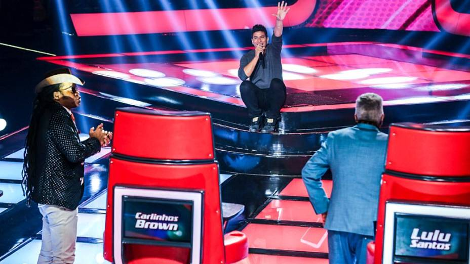 Carlinhos Brown e Lulu Santos na quarta rodada de audições às cegas do The Voice Brasil