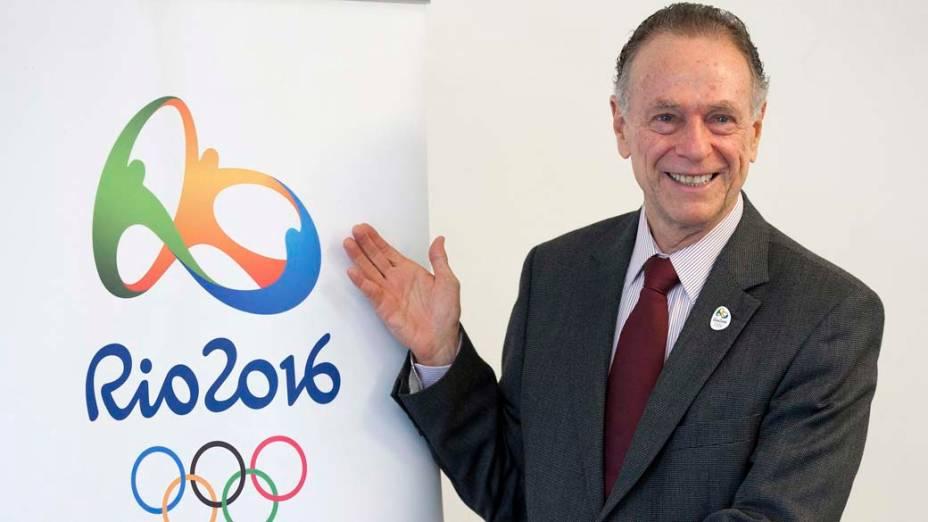 O presidente do Comitê Organizador Rio 2016, Carlos Arthur Nuzman, em Lausanne, Suíça