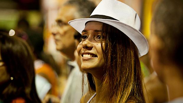 Folião durante o Carnaval de Salvador, em 28/02/2014