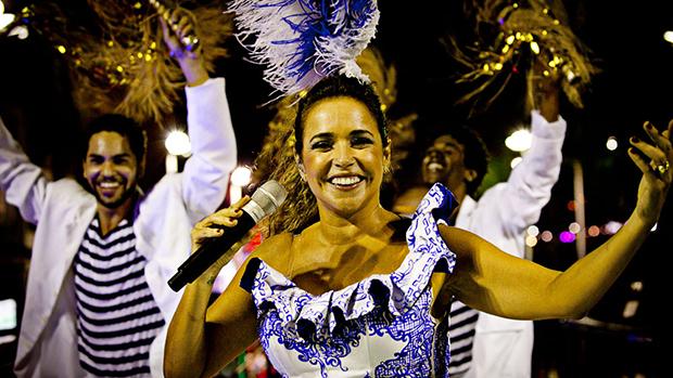 Daniela Mercury no Carnaval de Salvador, em 28/02/2014