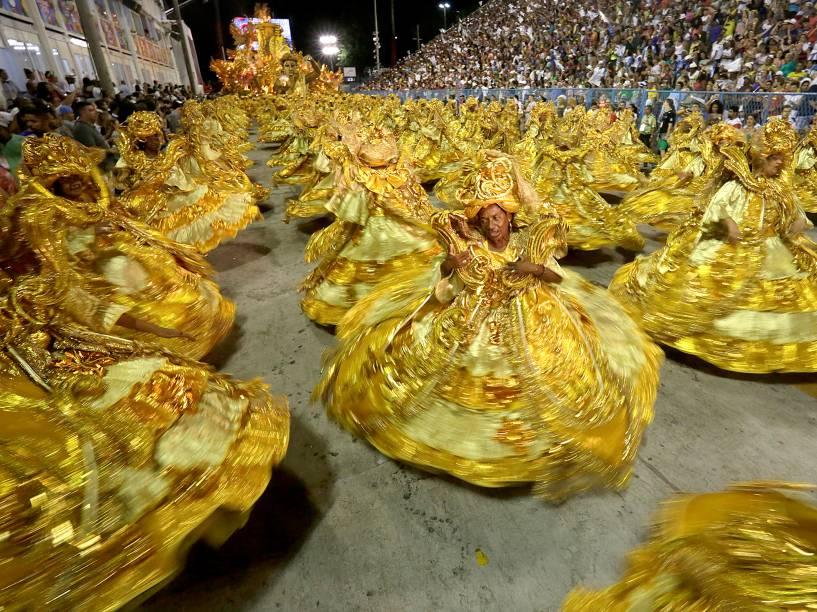 Desfile da Beija Flor no primeiro dia do Grupo Especial na Sapucaí, no Rio