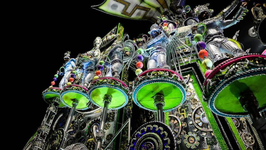 Desfile da Mocidade Alegre, atual campeã do carnaval de São Paulo