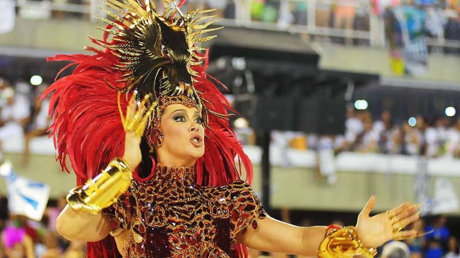 Cláudia Raia, destaque no desfile da Beija-Flor