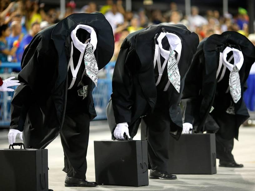 Desfile da Mocidade Independente de Padre Miguel, no primeiro dia do Grupo Especial na Sapucaí, no Rio