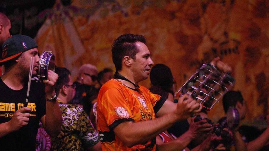Festa na quadra da Mocidade Alegre, campeã do Carnaval de São Paulo 2013