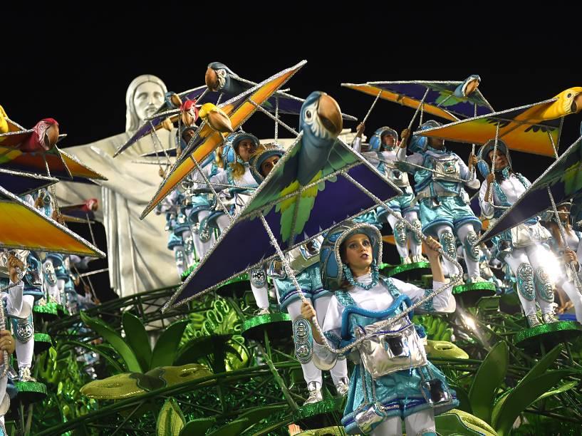 Desfile da União da Ilha no primeiro dia do Grupo Especial na Sapucaí, no Rio