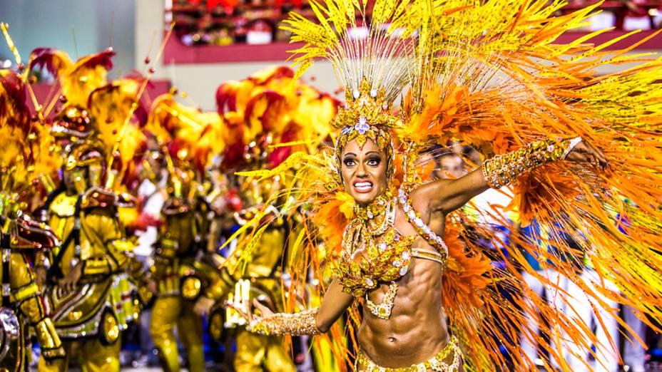 Musa da Unidos da Tijuca, campeã do Carnaval Rio de Janeiro 2014
