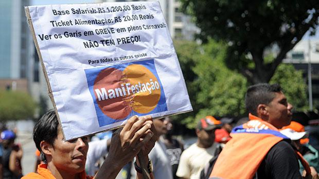 Garis decidem manter greve durante o Carnaval do Rio de Janeiro