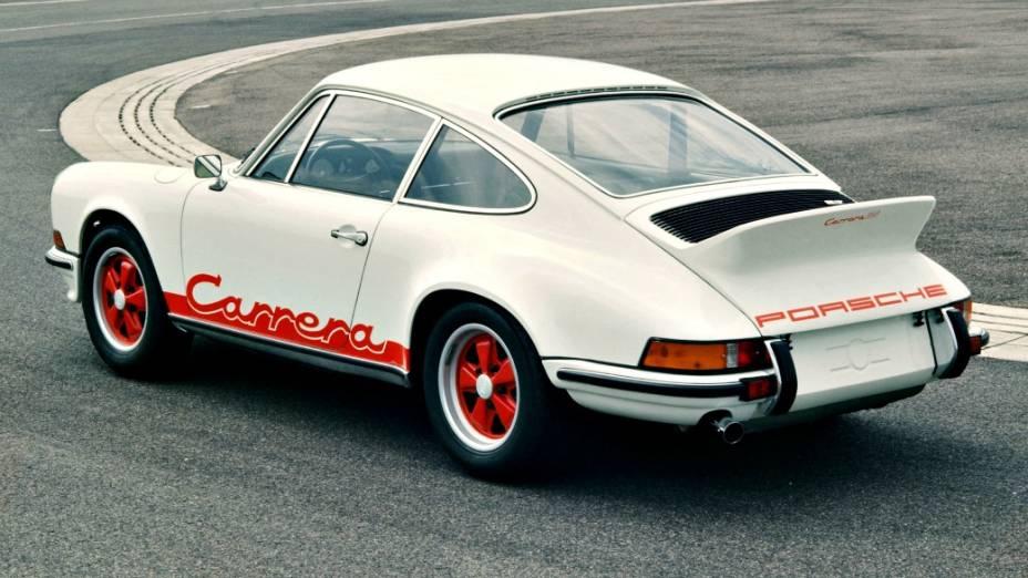 Teste de logotipia do 911 Carrera RS, sucesso da Porsche em 1973
