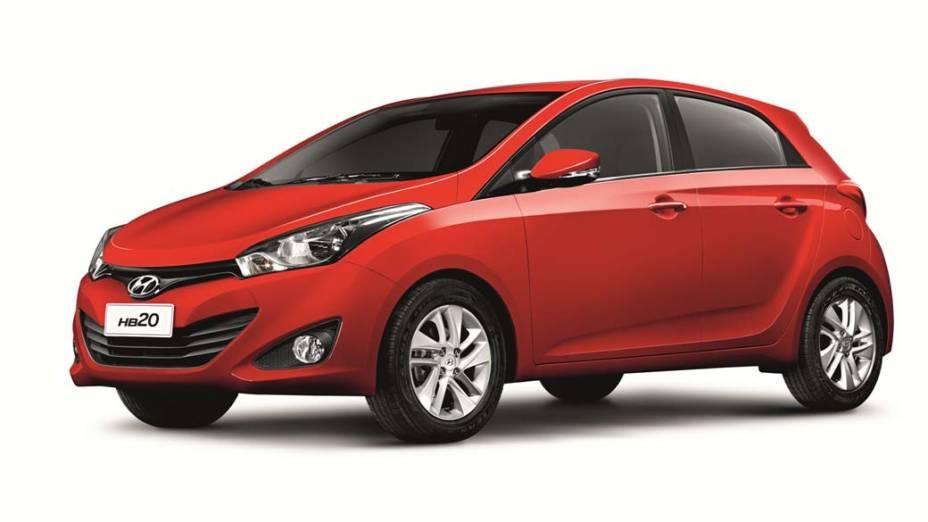 O novo HB20, compacto da Hyundai, apresentado na Bahia
