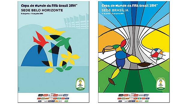 Cartazes de Belo Horizonte e Brasília