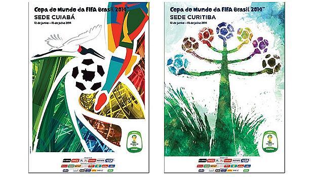Cartazes de Cuiabá e Curitiba
