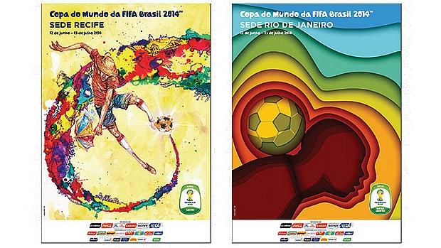 Cartazes de Recife e Rio de Janeiro