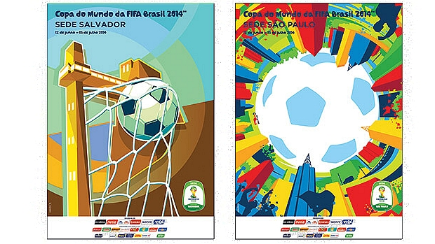 Cartazes de Salvador e São Paulo