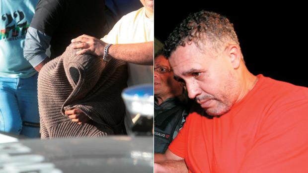 <br><br>  EM CENA - Um executou, o outro assistiu: os depoimentos de Jorge Luiz (de rosto coberto, por ser menor de idade na época), primo de Bruno que assistiu ao assassinato, incriminaram o ex-policial Bola, matador de aluguel que asfixiou Eliza na sua própria casa