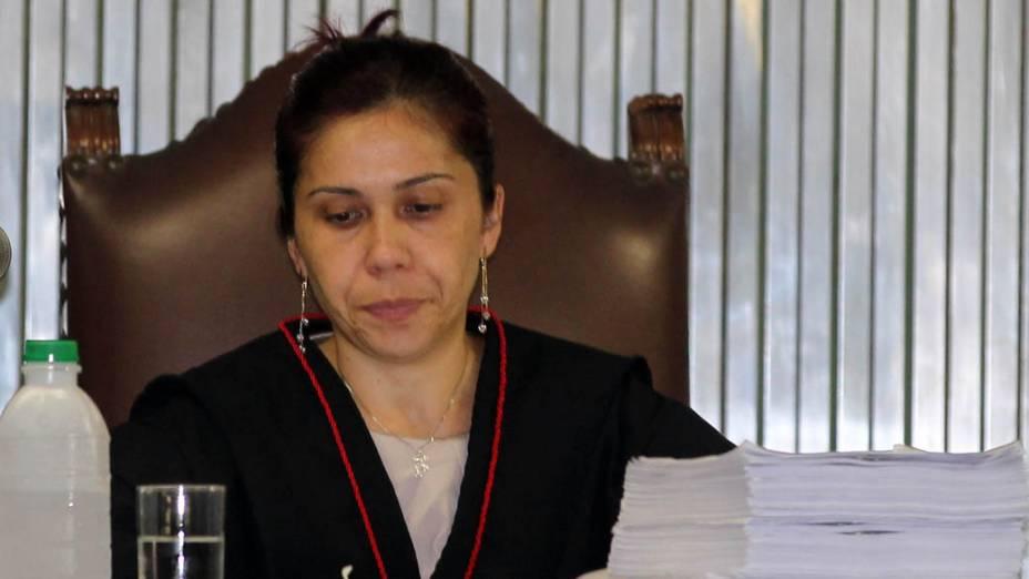 A promotora de Justiça Daniela Hashimoto durante julgamento de Lindemberg Alves