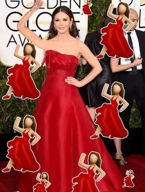 Catherine Zeta-Jones faz cosplay de um famoso emoji