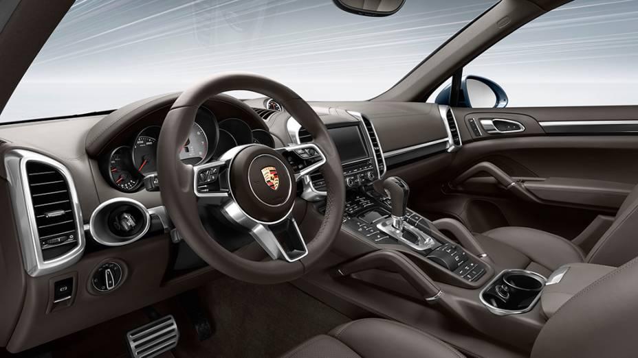 Porsche Cayenne turbo: motor biturbo de oito cilindros e 4.8 litros