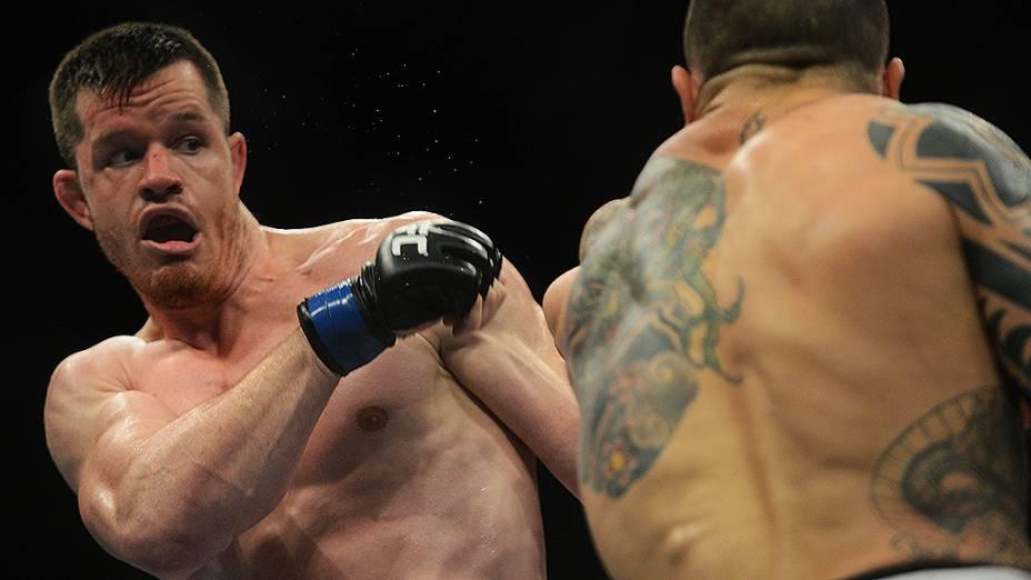 Daniel Sarafian e CB Dollaway durante UFC São Paulo no ginásio do Ibirapuera