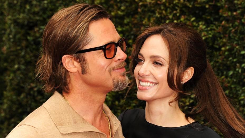 Brad Pitt e Angelina Jolie chegam para a estréia da animação Kung Fu Panda 2, realizada no teatro chinês de Grauman em Hollywood, Califórnia