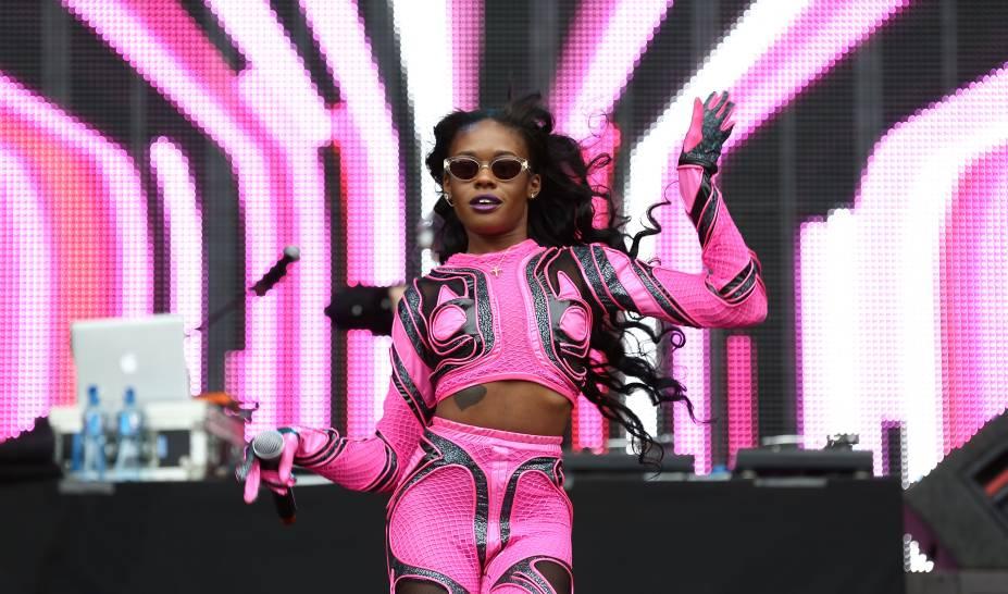 A rapper Azealia Banks se apresenta no Festival Wireless 2014, em Londres