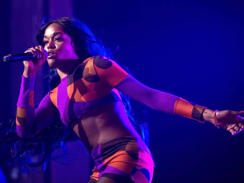Azealia Banks durante show no Festival Splendour in the Grass de 2015, na Austrália