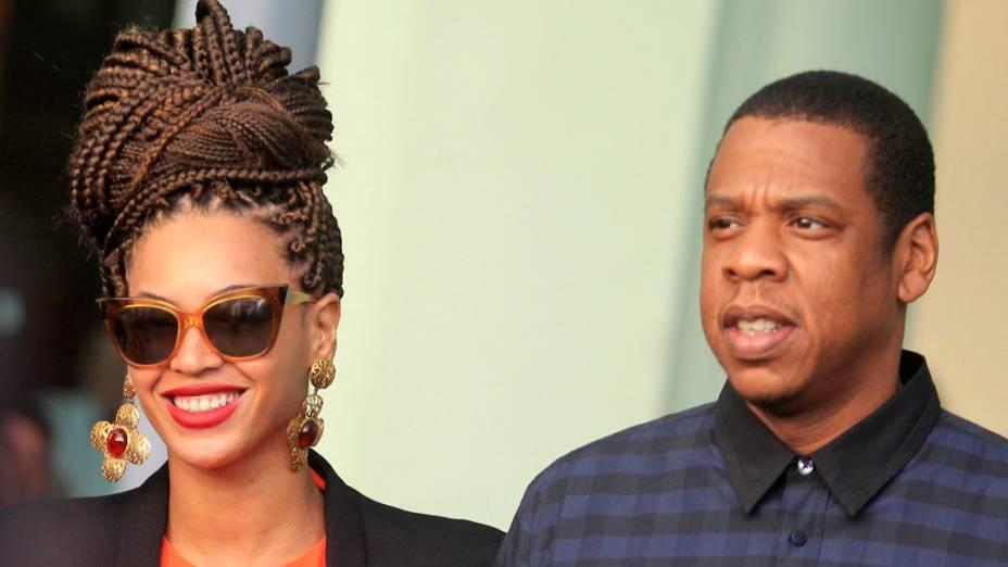 A cantora Beyoncé e seu marido, o rapper Jay-Z, em Havana, Cuba