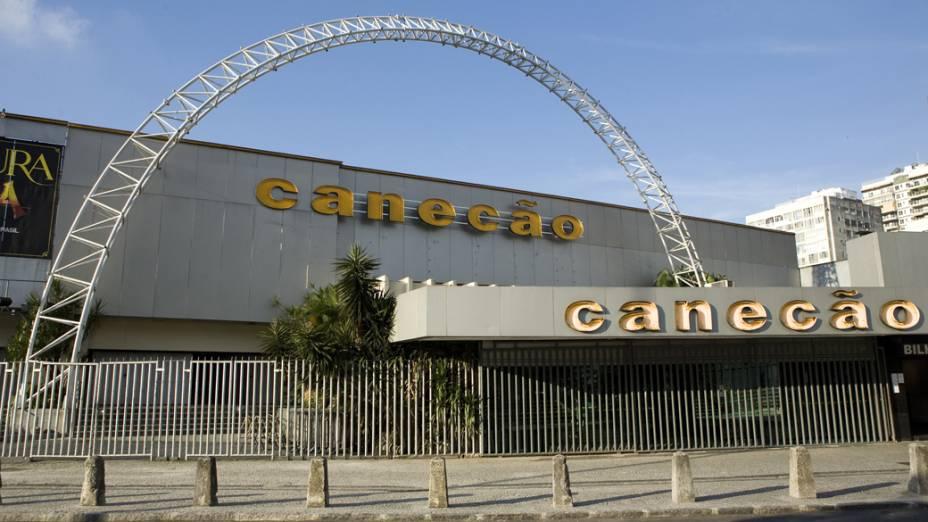 Fachada da Casa de Shows Canecão, no Rio de Janeiro