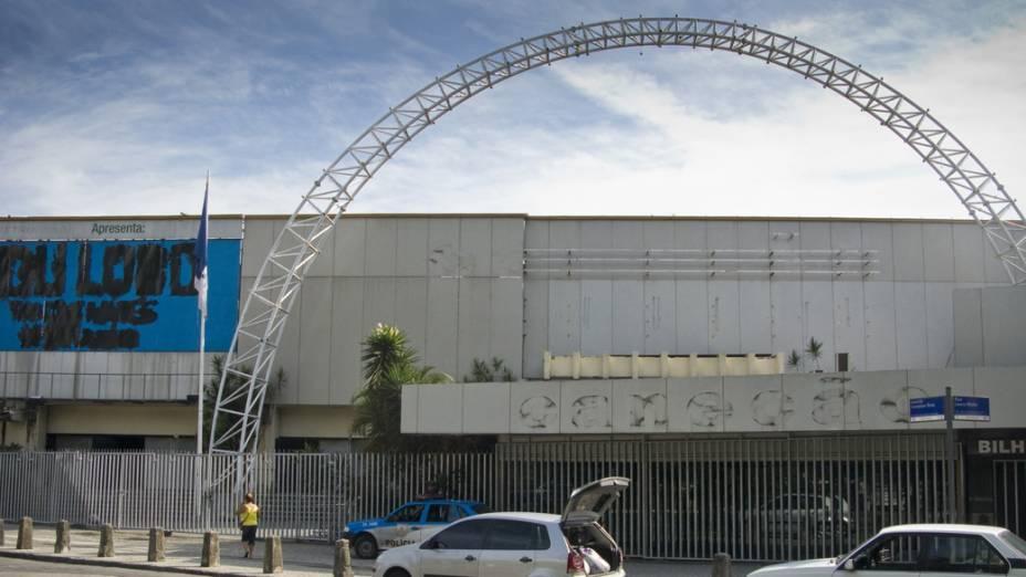 Fachada da Casa de Shows Canecão fechada, no Rio de Janeiro