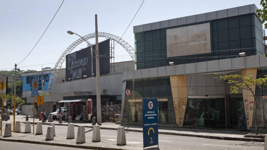 Fachada da Casa de Shows Canecão desativada, no Rio de Janeiro
