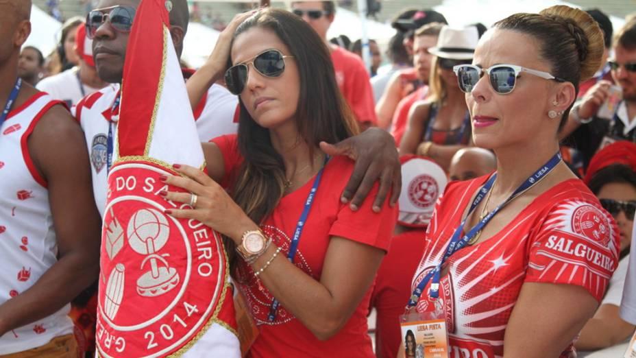 Musa da Salgueiro, Viviane Araújo, acompanha a apuração do Carnaval do Rio