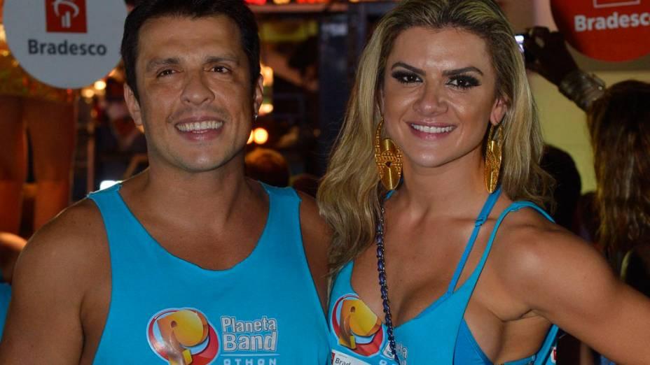 Ceará e Mirela Santos no circuito Barra-Ondina no carnaval de Salvador
