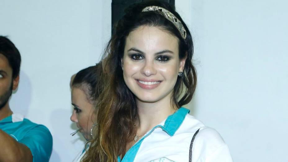 Stephanie Brito desfila na diretoria da Acadêmicos de Santa Cruz na Sapucaí, Rio de Janeiro