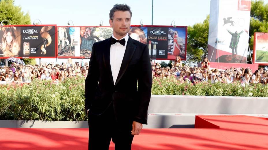 Ator Tom Welling chega para a exibição do filme Parkland, durante o Festival de Veneza