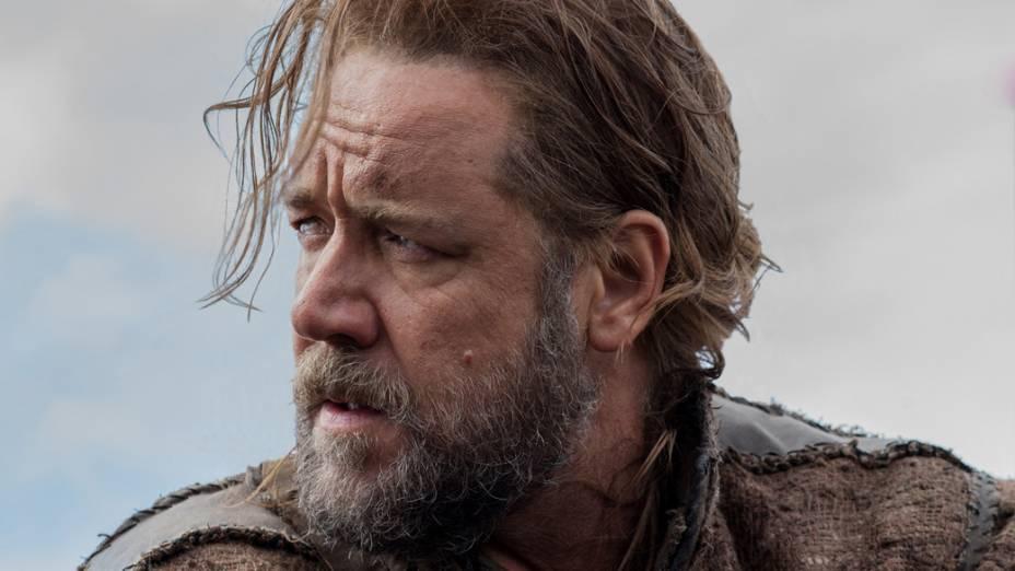 O ator Russell Crowe em cena do filme Noé