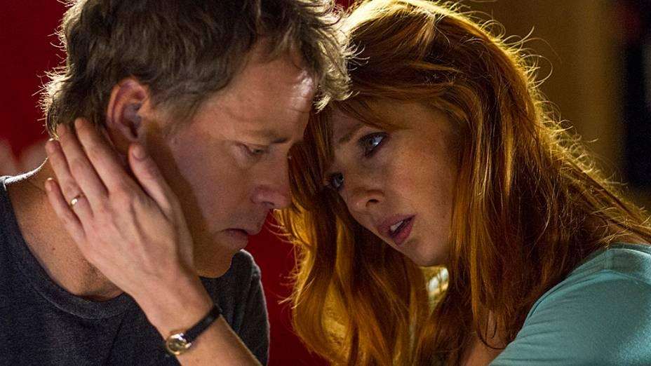Todd Burpo (Greg Kinnear) e Sonja Burpo (Kelly Reilly) personagens do filme O Céu É de Verdade