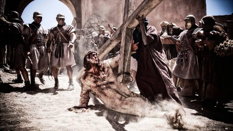 O ator Diogo Morgado como Jesus em cena do filme Son of God