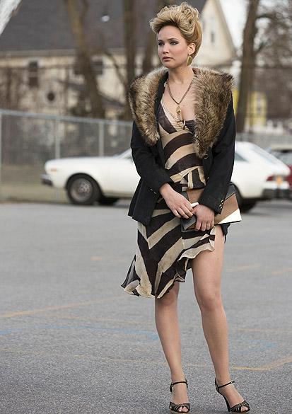 A atriz Jennifer Lawrence no filme Trapaça
