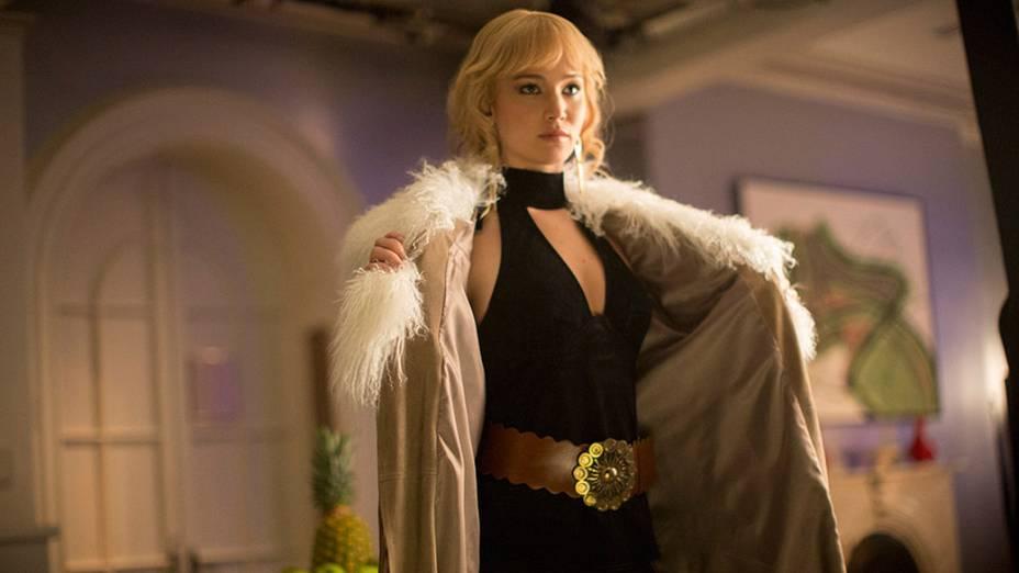 Atriz Jennifer Lawrence em cena do filme X-Men – Dias de um Futuro Esquecido